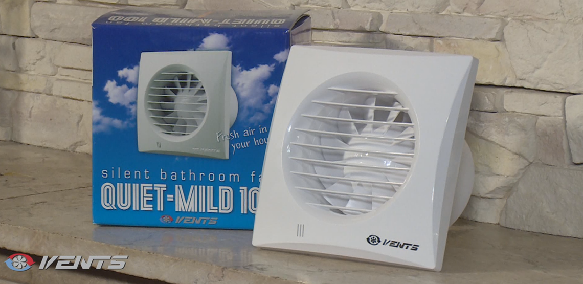 VENTS Quiet Mild bathroom fans